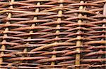 detailed close-up of vintage wooden weaving pattern made from willow shoots Stock Photo - Royalty-Free, Artist: yuriz                         , Code: 400-06430933
