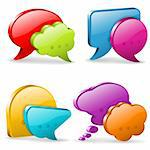 Set Speech and Thought Bubbles, social media concept, easy to change colors, vector illustration Stock Photo - Royalty-Free, Artist: TAlex                         , Code: 400-06431074