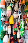 Lobster Trap Buoys, Provincetown, Cape Cod, Massachusetts, USA Stock Photo - Premium Royalty-Free, Artist: Alberto Biscaro, Code: 600-06431163