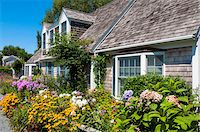 quaint house - House with Lush Flower Garden, Provincetown, Cape Cod, Massachusetts, USA Stock Photo - Premium Rights-Managednull, Code: 700-06431220
