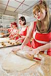 Women Wearing Devil Horns Working at a Bakery, Oakland, Alameda County, California, USA Stock Photo - Premium Royalty-Free, Artist: Mitch Tobias, Code: 600-06431353