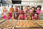 Women Wearing Devil Horns at a Bakery, Oakland, Alameda County, California, USA Stock Photo - Premium Royalty-Free, Artist: Mitch Tobias, Code: 600-06431361