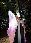 Girl with Outstretched Fairy Wings with Sun Shining from Behind Stock Photo - Premium Rights-Managed, Artist: Mark Downey, Code: 700-06431494