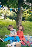 sad child sitting - Children yelling at birthday picnic Stock Photo - Premium Royalty-Freenull, Code: 649-06432516