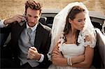 Newlywed couple arguing in car Stock Photo - Premium Royalty-Free, Artist: Jean-Christophe Riou, Code: 649-06432553