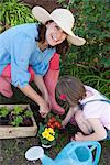 Mother and daughter gardening together Stock Photo - Premium Royalty-Free, Artist: Shannon Ross, Code: 649-06432663