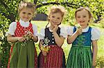 Girls in traditional Bavarian clothes Stock Photo - Premium Royalty-Free, Artist: Cultura RM, Code: 649-06432730