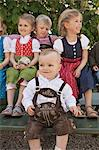 Children in traditional Bavarian clothes Stock Photo - Premium Royalty-Free, Artist: Cultura RM, Code: 649-06432733