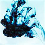 Blue ink swirling in liquid Stock Photo - Premium Royalty-Free, Artist: Robert Harding Images, Code: 649-06432814