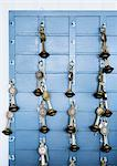 Keys handing from key hooks Stock Photo - Premium Royalty-Free, Artist: Cultura RM, Code: 649-06432876