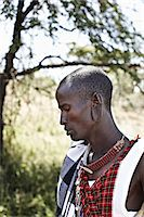 Maasai man standing outdoors Stock Photo - Premium Royalty-Freenull, Code: 649-06433213