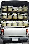 Truck carrying bins of fruit Stock Photo - Premium Royalty-Free, Artist: Cultura RM, Code: 649-06433239