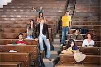 Students lounging in classroom Stock Photo - Premium Royalty-Freenull, Code: 649-06433305