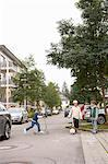 Children playing on suburban street Stock Photo - Premium Royalty-Freenull, Code: 649-06433346