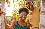 A young couple smiling and having fun together. Stock Photo - Premium Royalty-Freenull, Code: 6106-06433981