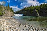 Bow Falls and Bow River, Banff, Alberta, Canada Stock Photo - Premium Royalty-Free, Artist: Moritz Schönberg, Code: 6106-06434441