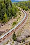Railway track, Banff, Alberta, Canada Stock Photo - Premium Royalty-Freenull, Code: 6106-06434453