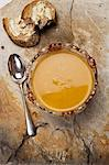 Sweet potato and chestnut soup Stock Photo - Premium Royalty-Free, Artist: Glowimages, Code: 6106-06434561