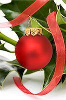 Festive Holly Stock Photo - Premium Royalty-Freenull, Code: 618-06436824