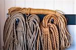 Close-up of Coiled Ropes Hanging on Hooks, Citadel Hill, Halifax, Nova Scotia, Canada Stock Photo - Premium Royalty-Free, Artist: Alberto Biscaro, Code: 600-06439042