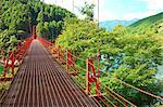 Zao suspended bridge in Aridagawa, Wakayama Prefecture Stock Photo - Premium Royalty-Free, Artist: Robert Harding Images, Code: 622-06439411