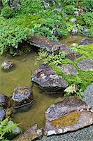 Traditional Japanese garden in Takayama, Gifu Prefecture Stock Photo - Premium Royalty-Freenull, Code: 622-06439875