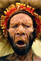 Huli Tribesman Papua, New Guinea Stock Photo - Premium Rights-Managednull, Code: 873-06440175