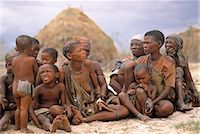 Bush People Sitting Outdoors Namibia Stock Photo - Premium Rights-Managednull, Code: 873-06440222