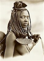 Portrait of Himba Woman Namibia Stock Photo - Premium Rights-Managednull, Code: 873-06440383