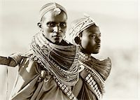 Portrait of Two Masai Women Tanzania Stock Photo - Premium Rights-Managednull, Code: 873-06440384