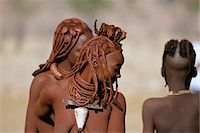 Himba Tribe Outdoors Namibia, Africa Stock Photo - Premium Rights-Managednull, Code: 873-06440552