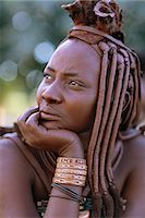 Portrait of Himba Woman in Traditional Dress Namibia, Africa Stock Photo - Premium Rights-Managednull, Code: 873-06440555