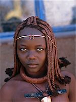 Portrait of Himba Woman in Traditional Dress Namibia, Africa Stock Photo - Premium Rights-Managednull, Code: 873-06440556