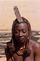 Portrait of Himba Woman in Traditional Dress Namibia, Africa Stock Photo - Premium Rights-Managednull, Code: 873-06440557