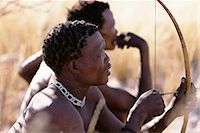 Bushman Hunters with Bow and Arrow Namibia, Africa Stock Photo - Premium Rights-Managednull, Code: 873-06440567
