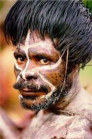 Huli Tribesman Papua New Guinea Stock Photo - Premium Rights-Managednull, Code: 873-06440679