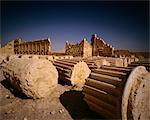 Fallen Columns Palmyra Ruins Syrian Arab Republic Stock Photo - Premium Rights-Managed, Artist: GreatStock, Code: 873-06440703