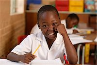 Boy in a Classroom Gauteng, South Africa Stock Photo - Premium Rights-Managednull, Code: 873-06440796