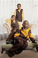 Children in School Uniforms Stock Photo - Premium Rights-Managednull, Code: 873-06440810