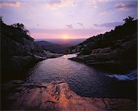 streams scenic nobody - Sunset over Stream and Hills, The Magaliesberg, South Africa Stock Photo - Premium Rights-Managednull, Code: 873-06440834