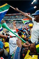 soccer fan - Fans Cheering at a Soccer Match, Ellis Park Stadium, Johannesburg, Gauteng, South Africa Stock Photo - Premium Rights-Managednull, Code: 873-06440881