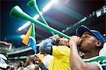 Fans Cheering at a Soccer Match, Ellis Park Stadium, Johannesburg, Gauteng, South Africa Stock Photo - Premium Rights-Managed, Artist: GreatStock, Code: 873-06440882