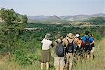 Hikers Using Binoculars, Northwest Province, South Africa Stock Photo - Premium Rights-Managed, Artist: GreatStock, Code: 873-06440883