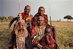 Group Of Masai People in Traditional Dress Stock Photo - Premium Rights-Managed, Artist: GreatStock, Code: 873-06440975