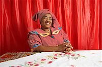 Portrait of Woman in Traditional Clothing, Vosloorus, Gauteng, South Africa Stock Photo - Premium Rights-Managednull, Code: 873-06441052