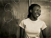 Teenage Girl at Blackboard Stock Photo - Premium Rights-Managednull, Code: 873-06441069