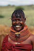 Portrait of Turkana Tribeswoman, Lake Turkana Region, Kenya Stock Photo - Premium Rights-Managednull, Code: 873-06441187