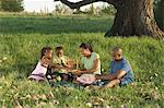 Family at Picnic Stock Photo - Premium Rights-Managed, Artist: GreatStock, Code: 873-06441189