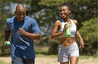 Couple Jogging Stock Photo - Premium Rights-Managednull, Code: 873-06441198