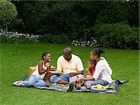 Family Picnic Stock Photo - Premium Rights-Managednull, Code: 873-06441227